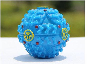 Slowfeed Aktivitetsboll blå