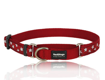 Stars Martingale dog collar Red