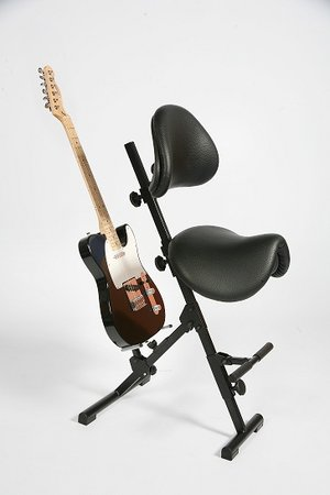 Gitarrist, sittstativ, AF-SR-KL4-AH, Svart inkl. gitarrstativ