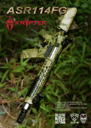 Airsoftrifle APS ASR114 Atacs AU, Low Profile Adapt Rail System Rifle