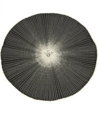 Bordstablett underlägg rund svart shabby chic lantlig stil