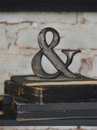 Litet & tecken mörk metall Jeanne d´Arc Living  shabby chic lantlig stil