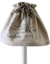 Lampkjol lampskärm Notre Dame linne-beige shabby chic lantlig stil