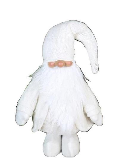 Vit jultomte liten tomte tomtefar nisse vit shabby chic lantlig stil