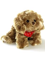 Baby Kharma hund mjukisdjur röd halsduk Bukowski design