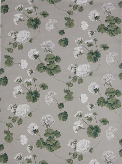 2 st Gardinlängder  ljusgrå vita Pelargoner shabby chic Romantisk lantlig stil