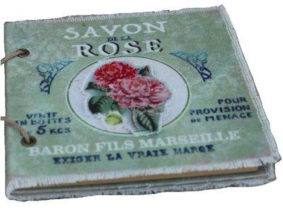 Anteckningsbok notebook Vintage  Savon Rose Chic Antique  shabby chic lantlig stil