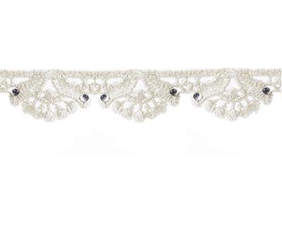 Spetsband spets linne-beige kantspets med kristall shabby chic lantlig stil fransk lantstil