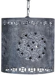 Lampa spets zink antikpatinerad metall gammaldags lantlig stil shabby chic