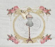 Servetter Vintage Manequin rosor romantisk  fransk lantstil shabby chic lantlig stil