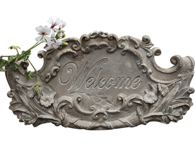 Skylt Welcome Chic Antique shabby chic lantlig stil fransk lantstil