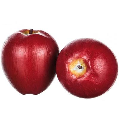 Rött äpple i trä dekoration shabby chic lantlig stil