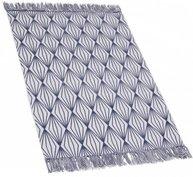 Blå matta bomull vit blå retro diamant bomullsmatta shabby chic lantlig stil