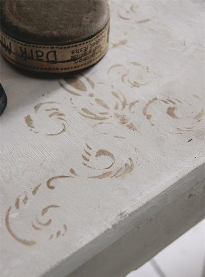 Stencil för dekorationsmålning väggmålning shabby chic lantlig stil