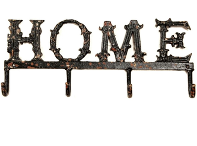 Hängare med fyra krokar gjutjärn Home shabby chic lantlig stil