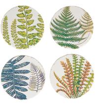Underlägg glasunderlägg Botaniska Ormbunke 4 set shabby chic lantlig stil