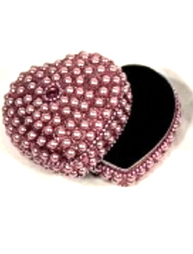 Rosa pärlor ask smyckesskrin shabby chic lantlig stil