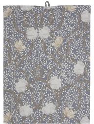 Handduk kökshandduk ljusgrå blå Pimpernel shabby chic lantlig stil