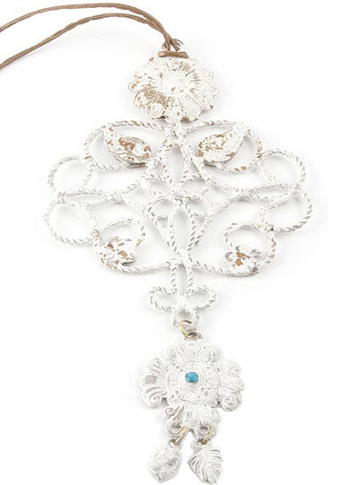 Dekorations Smycke Fleur de Lys antikvit shabby chic lantlig stil