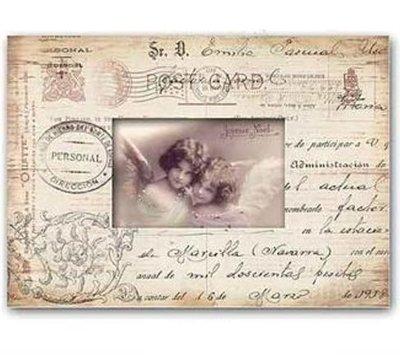 Fotoram antikt dokument änglar shabby chic lantlig stil