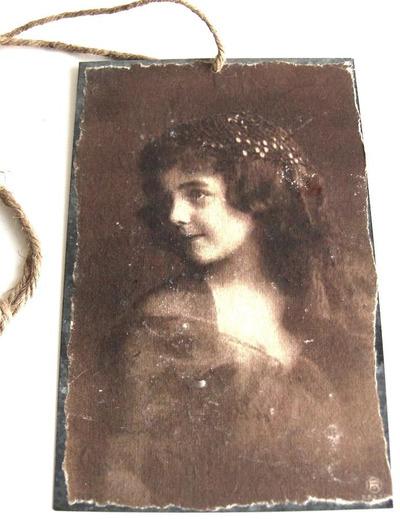 Vacker flicka metall skylt handgjord romantisk skylt shabby chic lantlig stil