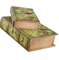 Bokask boklåda bokgömma gammal Fåglar bok fransk 2 storlekar shabby chic lantlig stil
