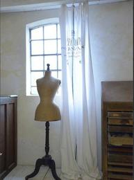 Gardin Alimente vit knytband Jeanne d´Arc Living shabby chic lantlig stil