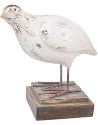 Fågel vit nr 1 shabby chic lantlig stil