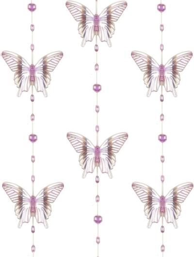 Rosa fjärilar hänge shabby chic lantlig stil