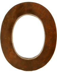 O - rostig i plåt 30 / 50cm