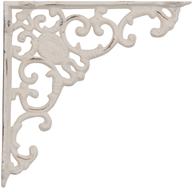Antikvit vit konsoll hyllbärare gjutjärn snirklig shabby chic lantlig stil