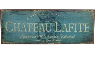 Chateau Lafite vinskylt i plåt vintage stil