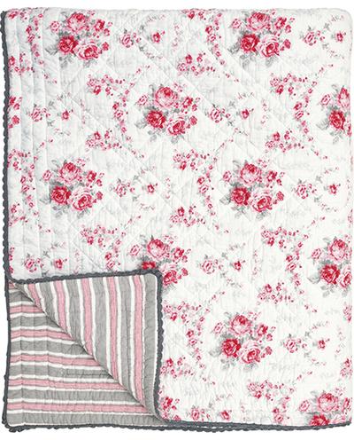 Överkast rosa rosor Coco spetskant Greengate shabby chic lantlig stil