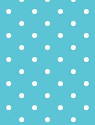 Vaxduk ljusblå turkos stora vita prickar shabby chic lantlig stil