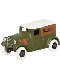Grön skåpbil retro bil leksak i gjutjärn shabby chic lantlig stil