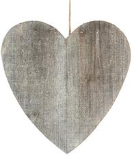 Stort hjärta i trä drivved shabby chic lantlig stil