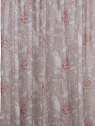 2 st Gardinlängder Rosa Rosor shabby chic Romantisk lantlig stil