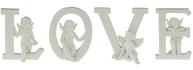 Bokstäver LOVE änglar shabby chic lantlig stil