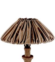 Stor vintage lampskärm skärm plisserad brun shabby chic lantlig stil