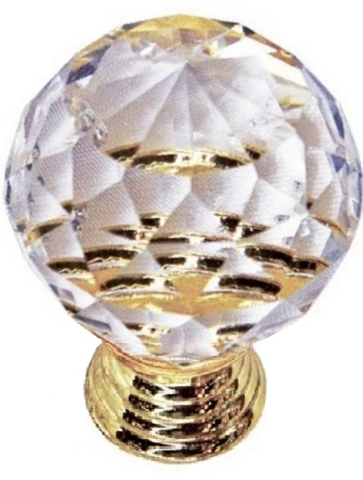 Kristall glasknopp stor shabby chic lantlig stil