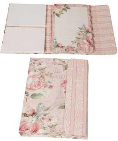 Anteckningsblock notebook Rosa rosor shabby chic lantlig stil