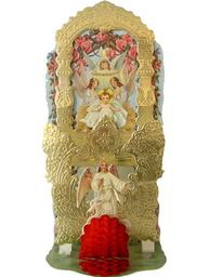 Victoriansk stil Änglar jesusbarnet honey comb shabby chic lantlig stil