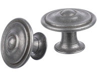 Knopp ringar antik silver-färgad metall shabby chic lantlig stil