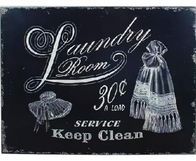 Plåtskylt Laundry
