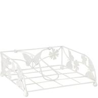 Servettställ vitt smide Fjärilar shabby chic lantlig stil