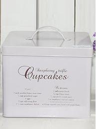 Emaljburk Cupcakes kakburk Bloomingville shabby chic lantlig stil