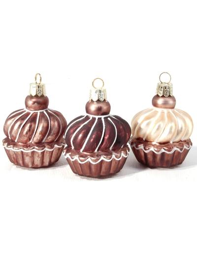 3set Cupcakes dekoration bordsplacering shabby chic lantlig stil