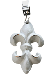 4 set Duktyngder gjutjärn fransk lilja shabby chic lantlig stil