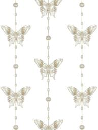 Vita fjärilar hänge shabby chic lantlig stil