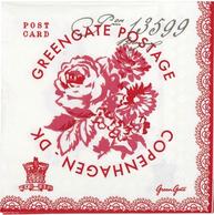 Greengate servetter Fay röd